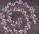 熱銷爆款加長珍珠粉色盤發帶
