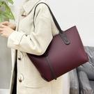 大容量女士托特包 時尚複古女生單肩包 簡約純色軟皮托特包 歐美百搭女包包 潮流韓版氣質大包包