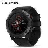 Garmin fenix 5X Plus行動支付音樂GPS複合式心率表石墨灰-矽