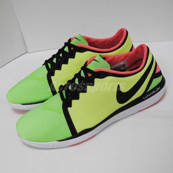 【US8-NG出清】Nike 慢跑鞋 Wmns Lunar Sculpt 左內側黑邊條補漆 左內側髒汙 綠 黃 運動鞋 女鞋【PUMP306】