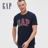 Gap 男裝 徽標LOGO舒適圓領短袖T恤 513858-海軍藍
