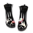 雨鞋女雨鞋女中筒馬丁靴女士休閒短筒防水鞋都市雨靴防滑正韓時尚雨鞋