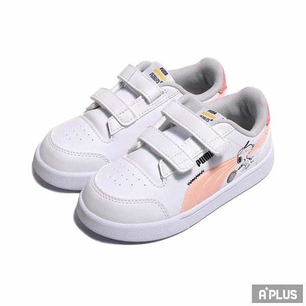 PUMA 童鞋 PEANUTS PUMA SHUFFLE V INF 史奴比 聯名款 魔鬼氈-37574102