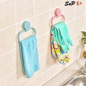 毛巾架 廁所掛毛巾架創意免打孔手巾架 E家人