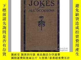 二手書博民逛書店1921初版罕見jokes for all occasions
