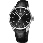 ORIS 豪利時 ARTIX DATE 日期機械錶-黑x39mm 0173377134034-0751981FC