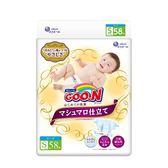 【日本大王GOO.N】頂級珍珠棉柔版黏貼型紙尿褲S-58片X3串/箱-箱購