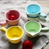 ZERO原點居家 彩色系列奶油杯 單柄陶瓷小烤盅 單柄圓形小醬料碟 單柄小菜盤 80ml(多色任選)