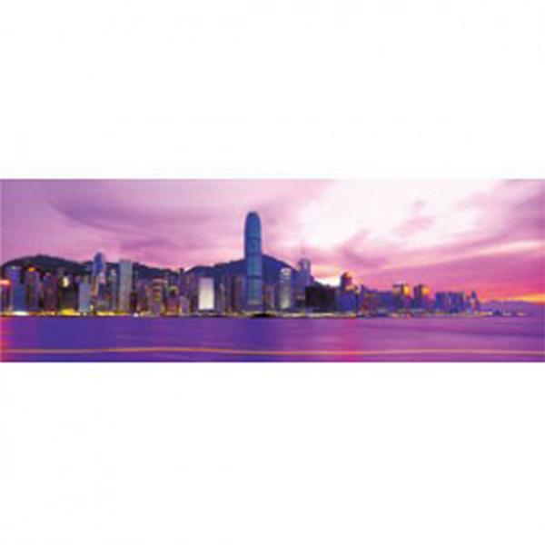 【台製拼圖】夜光-香港夜色-紫夜光-(954片) HM954-029G