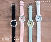 2件免運 女錶 手錶 韓版 休閒 簡約時尚 糖果色 可愛 錶盤 情侶 對錶
