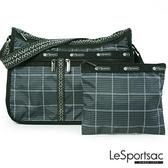 【南紡購物中心】LeSportsac - Standard雙口袋A4大書包-附化妝包 (冬季格紋) 7507P F520