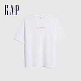 Gap女裝 Logo純棉圓領短袖T恤 756195-白色