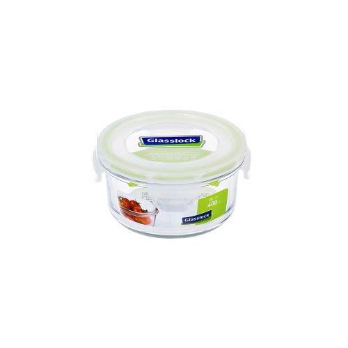 GlassLock 強化玻璃微波保鮮盒-圓(400ml)【愛買】