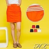 .GAG GLE超大尺碼.【16050061】元氣矚目後條紋伸縮腰褲裙 5色