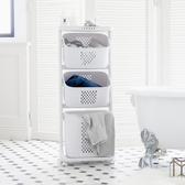 洗衣籃 收納籃 收納推車【F0077】Kira三層收納髒衣籃(附輪)ac 完美主義