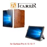快速出貨 ICARER 復古油蠟 Surface Pro 4 / 5 / 6 / 7 單底背蓋 手工真皮保護套