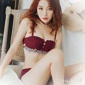 內衣女套裝文胸款無鋼圈胸罩小胸性感 JY9285【pink中大尺碼】