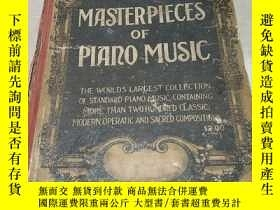 二手書博民逛書店MASTERPIECES罕見OF PIANO MUSIC(鋼琴音