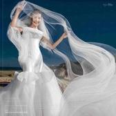 超長頭紗飄逸軟紗影樓婚紗攝影頭紗