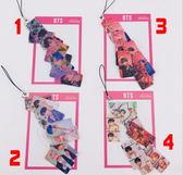 BTS防彈少年團 PVC照片小卡串手機鍊 串卡鑰匙鏈E863【玩之內】鎖圈 韓國V SUGA JIMIN