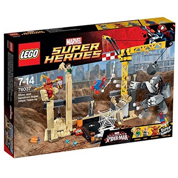 LEGO 樂高 超級英雄系列 Rhino and Sandman Supervillain Team-up 犀牛與沙人超級惡霸 76037