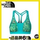 【The North Face 女款 快乾運動內衣 芽綠印花】 NF0A2RGW/運動內衣/內衣/排汗衣