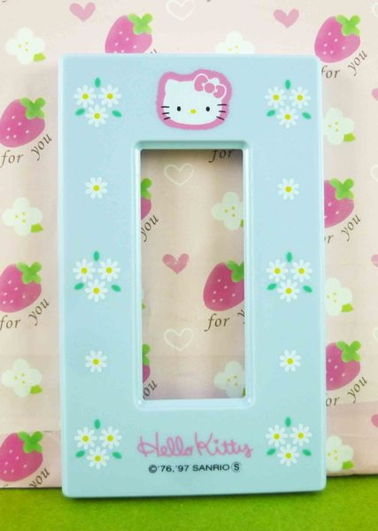 【震撼精品百貨】Hello Kitty 凱蒂貓~2孔開關蓋面板~藍【共1款】