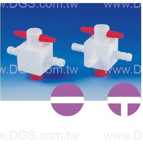 《BOHLENDER》二方 /三方三通活栓 PTFE 2/3-Way Stopcocks, Hose Connector, PTFE