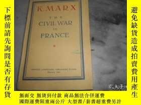 二手書博民逛書店K.MARX罕見THE CIVIL WAR IN FRANCE(