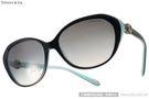 Tiffany&CO.太陽眼鏡 TF4098 81343B (琥珀-蒂芬妮綠) 奢華經典迷人百搭款 # 金橘眼鏡