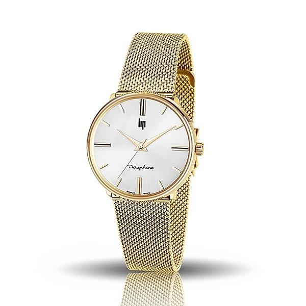 【lip】Dauphine時尚質感白面米蘭石英腕錶-耀眼金/671296/台灣總代理公司貨享兩年保固