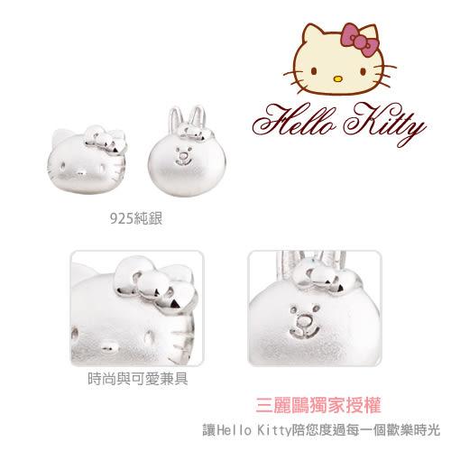 甜蜜約定 HelloKitty 姊妹淘Kitty純銀耳環