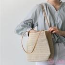 沙灘包 包包女2020新款百搭休閒草編織包單肩包ins夏季旅游沙灘包手提包