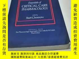 二手書博民逛書店SECOND罕見EDITION Essentials of CRITICAL CARE PHARMACOLOGY奇