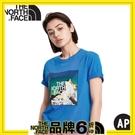 【The North Face 吸排短袖棉T恤《藍》】4NDF/排汗快乾/運動衣/圓領衣/休閒衣