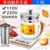 110V伏養生壺出口日本美國臺灣加拿大玻璃煎藥煲花茶電熱水壺家用 卡卡西