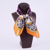 桑蠶絲圍巾-流行大方優雅小方巾女絲巾4色73hx56[時尚巴黎]
