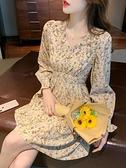 雪紡洋裝 法式碎花小個子洋裝春款女裝2021年新款春裝氣質長袖雪紡裙子夏