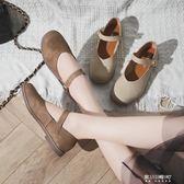 可愛圓頭洛麗塔單鞋女夏學生文藝百搭日繫瑪麗珍原宿軟妹小皮鞋女   東川崎町