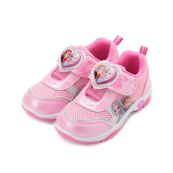 冰雪奇緣 愛心電燈運動鞋 粉紅 FNKX94903 中大童鞋 鞋全家福