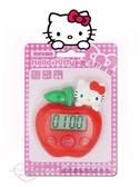 小花花日本精品Hello Kitty凱蒂貓蘋果造型 電子計時器 定時器 廚房計時器 可站立 33202303