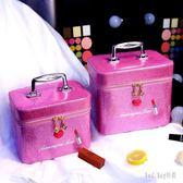 大容量化妝包雙層化妝盒便攜旅行簡約網紅可愛手提收納化妝箱 QG14587『Bad boy時尚』