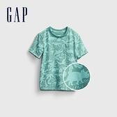 Gap男幼童 布萊納系列 童趣印花圓領T恤 681411-藍色印花