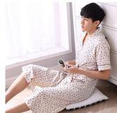 夏天男士純棉質日式全棉短袖薄款浴衣PLL3192【男人與流行】