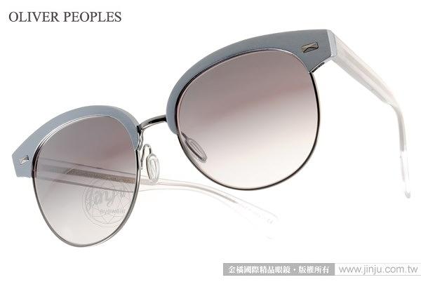 OLIVER PEOPLES 太陽眼鏡 SHAELIE 52256L (銀藍) 前衛時尚眉框款 # 金橘眼鏡