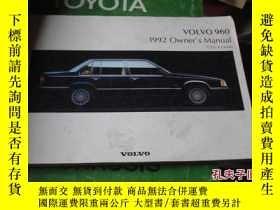 二手書博民逛書店VOLVO罕見960 1992 OWNER'S MANUALY2