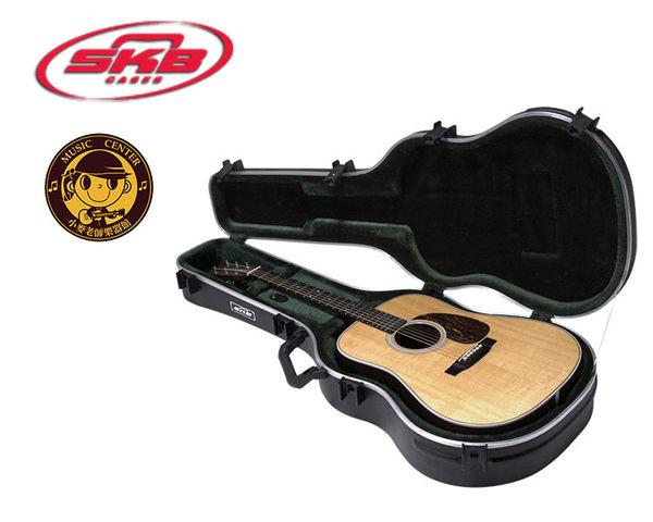 【小麥老師樂器館】SKB SKB-18 民謠吉他D桶身硬盒 Guitar Hardshell 海關通用鎖 吉他盒 貝斯