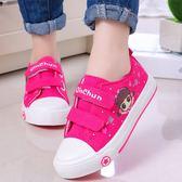 兒童帆布鞋女童鞋子2019春童鞋寶寶布鞋小學生小白鞋幼兒園室內鞋