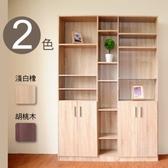 【預購-預計8/31出貨】【Hopma】都會四門六格書櫃/收納櫃-胡桃木
