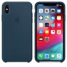 Apple iPhone XS Max 原廠矽膠護套 iPhone XS Max 原廠保護殼【深海綠色】 美國水貨 原廠盒裝